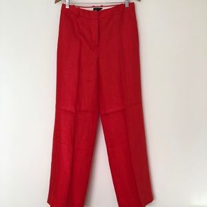 Red JCrew Trousers NWT